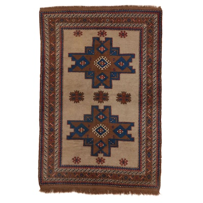 5'5 x 8'3 Hand-Knotted Turkish Village Rug, 1960s