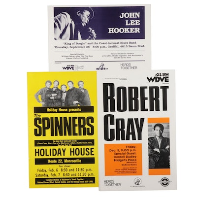 The Spinners, John Lee Hooker, and Robert Gray Concert Posters