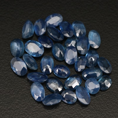 Loose 15.74 CTW Oval Faceted Sapphires