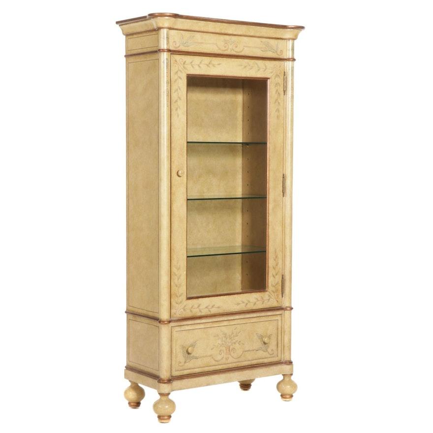 Pulaski Furniture Paint-Decorated Display Cabinet