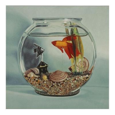 Patrick Daugherty Fishbowl Still Life Giclée, 2007