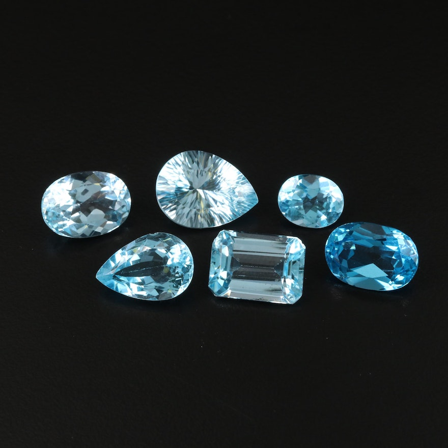 Loose 43.47 CTW Mixed Faceted Topaz Selection