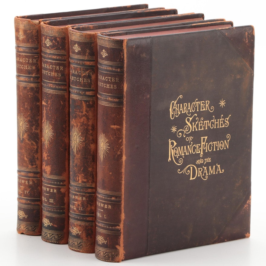 """""""Character Sketches of Romance, Fiction and the Drama"""" Vol. I–IV, 1892"""