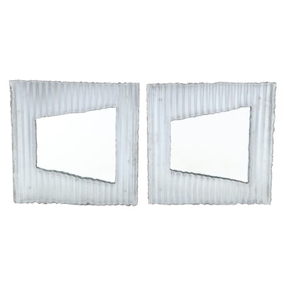 Corrugated Sheet Metal Framed Accent Mirrors