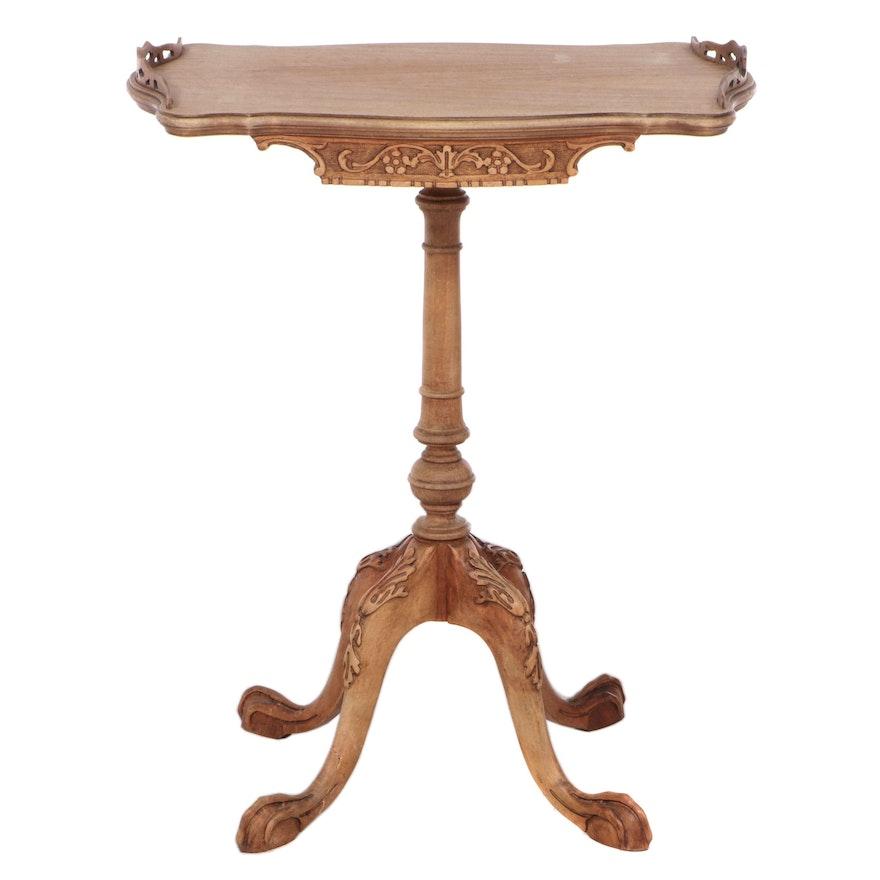 George III Style Carved Hardwood Side Table