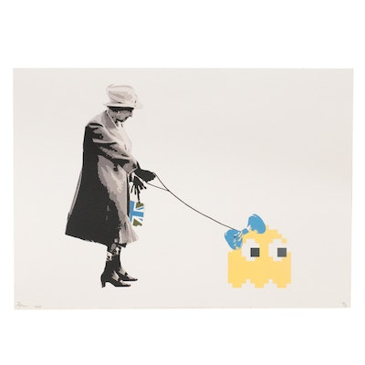 """Death NYC Graphic Print """"Queen Invader Yellow,"""" 2020"""