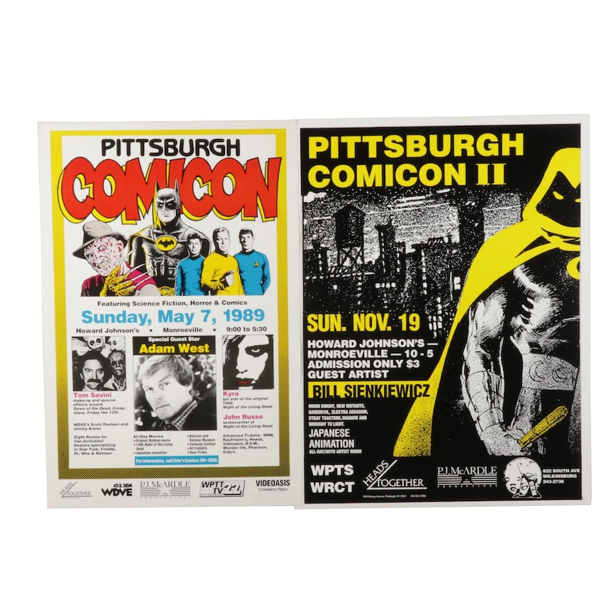 Pittsburgh Comicon Posters after Bill Sienkiewicz Featuring Adam West, 1989