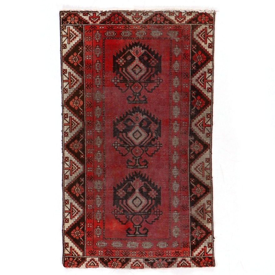 3'7 x 6'2 Hand-Knotted Persian Baluch Area Rug