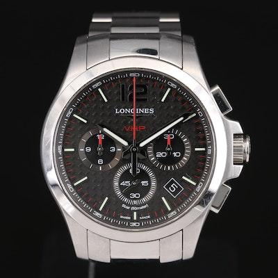 Longines Conquest V.H.P. Chronograph Stainless Steel Quartz Wristwatch