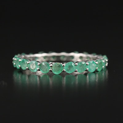Sterling Beryl Eternity Band