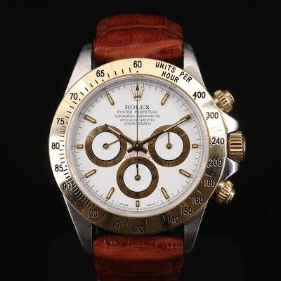 1997 Rolex Daytona 16523 Zenith 18K Gold and Stainless Steel Wristwatch