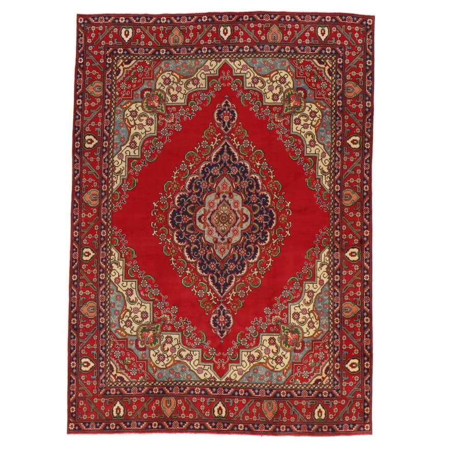 8'1 x 11'3 Hand-Knotted Persian Tabriz Area Rug