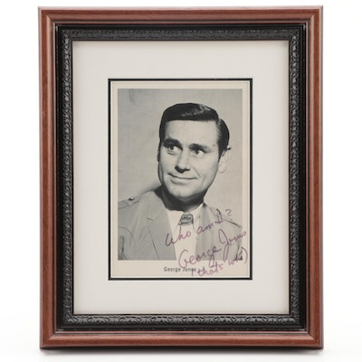 George Jones Framed Autographed Picture