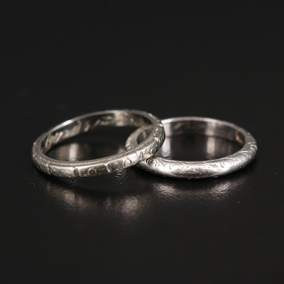 Art Deco 18K and Platinum Bands
