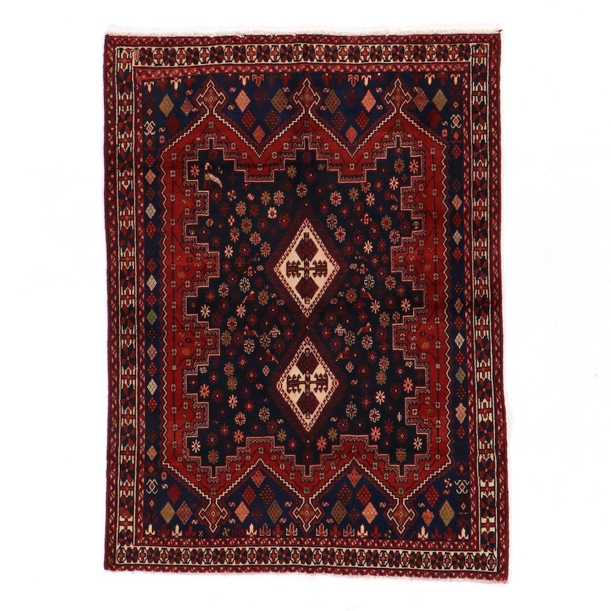 5'4 x 7'4 Hand-Knotted Persian Sirjan Afshar Area Rug