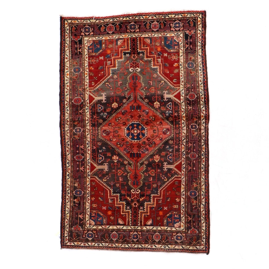 4'5 x 7'2 Hand-Knotted Persian Tuyserkan Area Rug