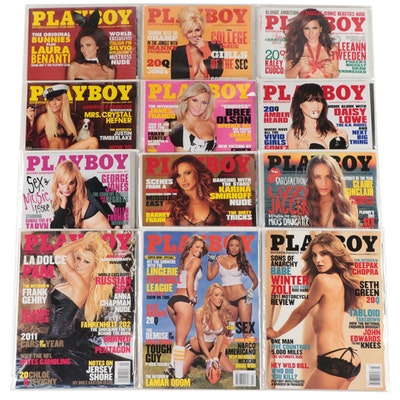 """""""Playboy"""" Magazine Featuring Pamela Anderson and Others, 2011"""