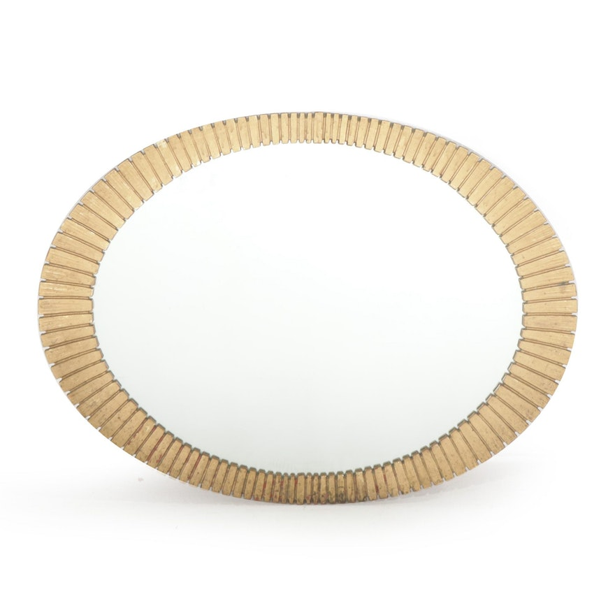 Oval Wall Mirror, Mid to Late 20th Century