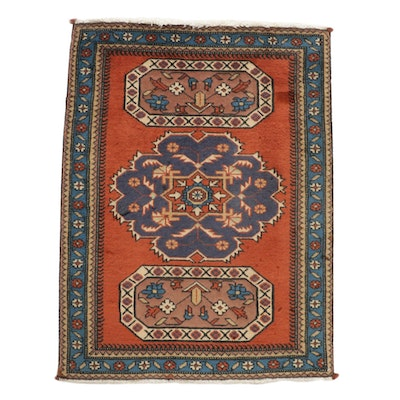 2'4 x 3'2 Hand-Knotted Persian Ardebil Rug, 1970s