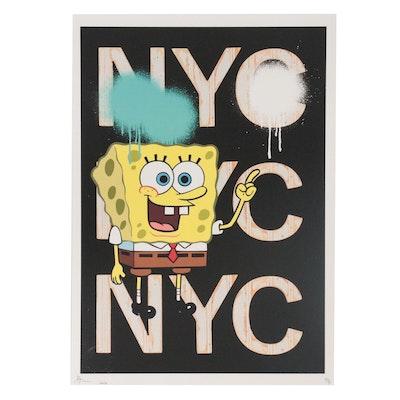 Death NYC Pop Art Giclée of Sponge Bob, 2020