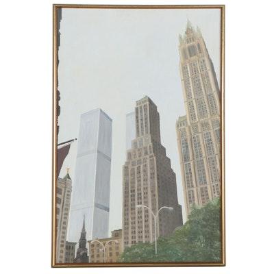 """Nicholas Burton Bragg Oil Painting """"New York 1767-1976"""""""