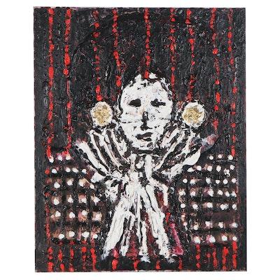 "Irwin Wiener Impasto Acrylic Painting ""Prestidigitation"""