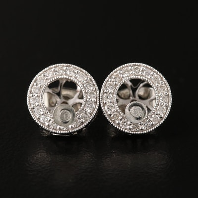 14K Diamond Earring Jackets with Stud Earrings