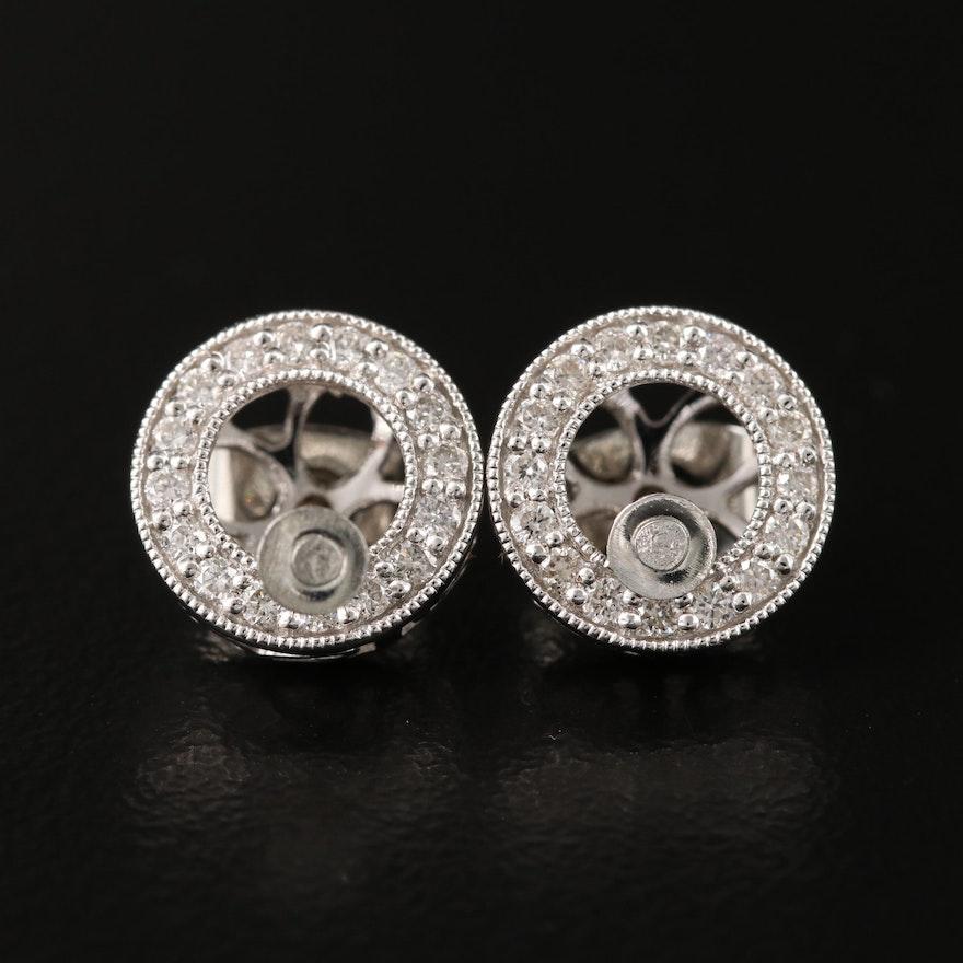 14K Diamond Earring Jackets with Stud Earrings