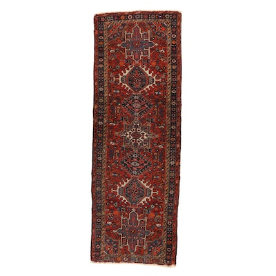 2'4 x 6'8 Hand-Knotted Persian Karaja Carpet Runner, 1920s