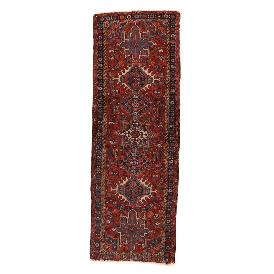 2'4 x 6'8 Hand-Knotted Persian Karaja Carpet Runner, 1920s