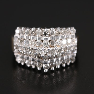 10K 2.06 CTW Diamond Step Ring