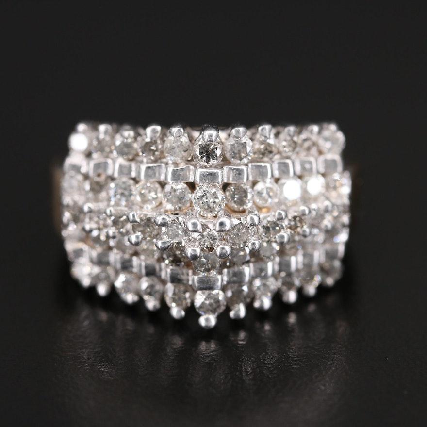10K 2.06 CTW Diamond Step Ring