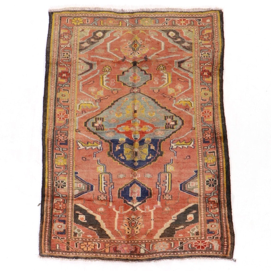 4'7 x 6'1 Hand-Knotted Northwest Persian Area Rug