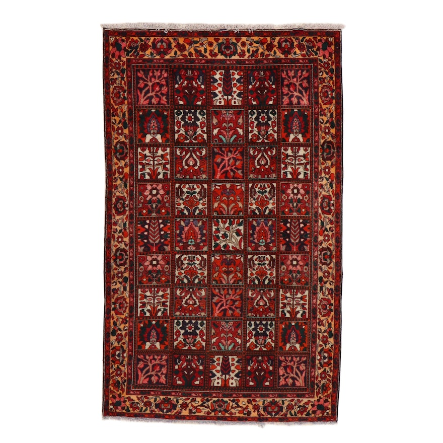 5'4 x 9'6 Hand-Knotted Persian Bakhtiari Rug, 1970s