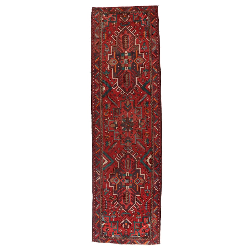3'8 x 13'1 Hand-Knotted Persian Afshar Long Rug
