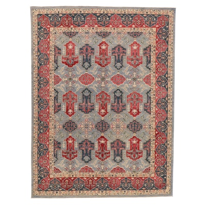 8'11 x 11'9 Hand-Knotted Pakistani Persian Tabriz Room Sized Rug, 2010s