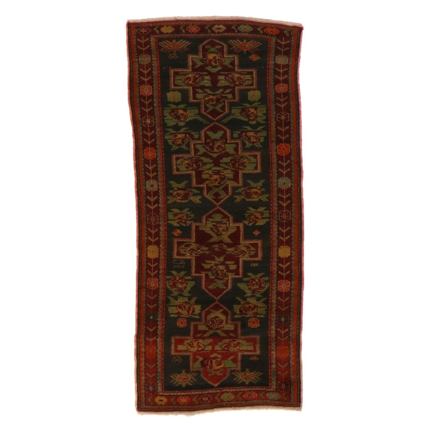 4'6 x 10'4 Hand-Knotted Caucasian Karabagh Rug, 1930s
