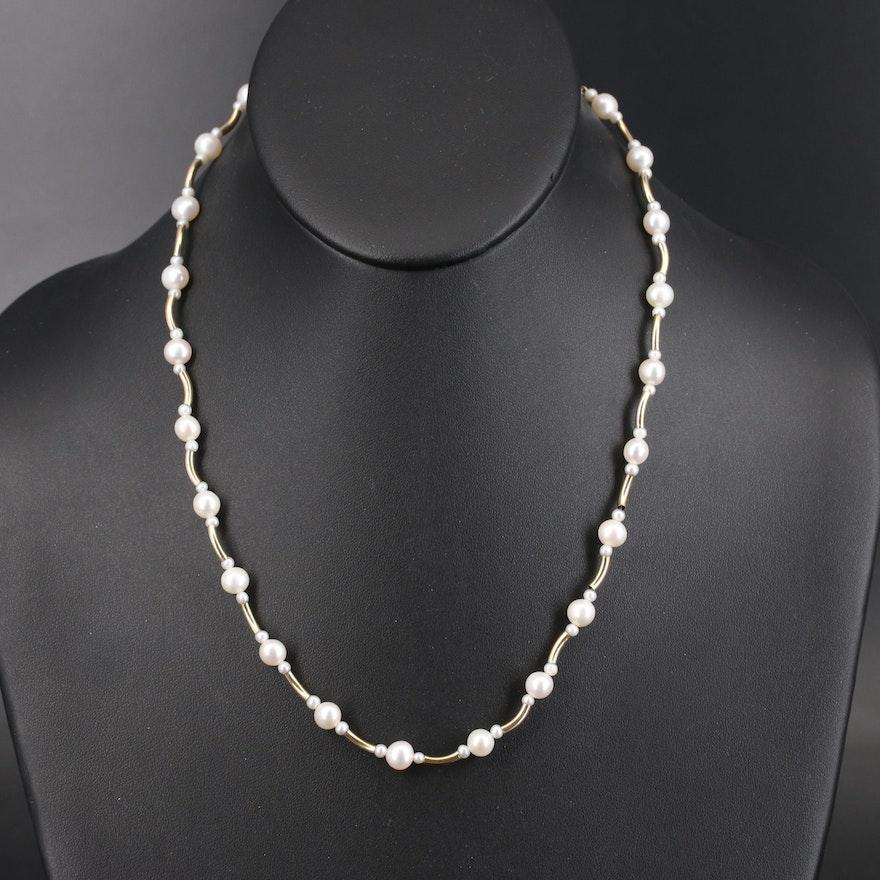 Peter Brams 14K Pearl Necklace