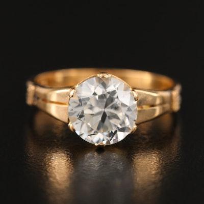 Vintage 18K Zircon Ring