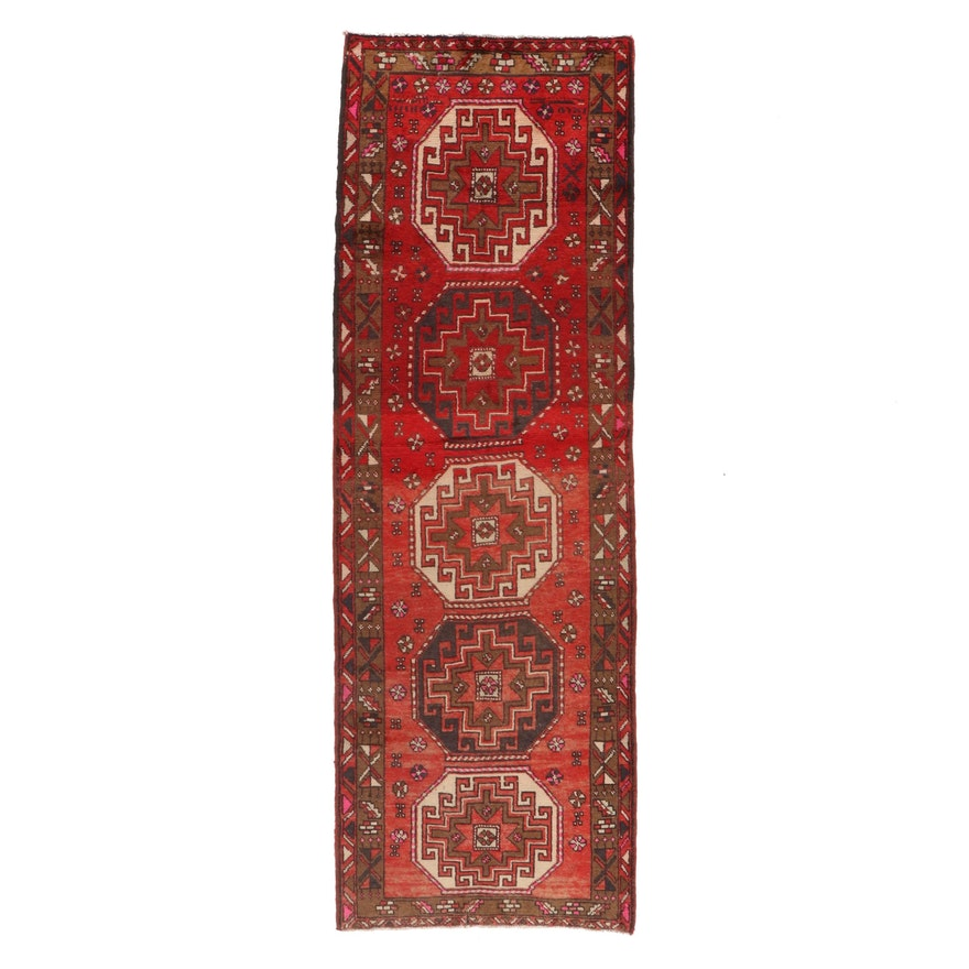 3'4 x 10' Hand-Knotted Northwest Persian Long Rug