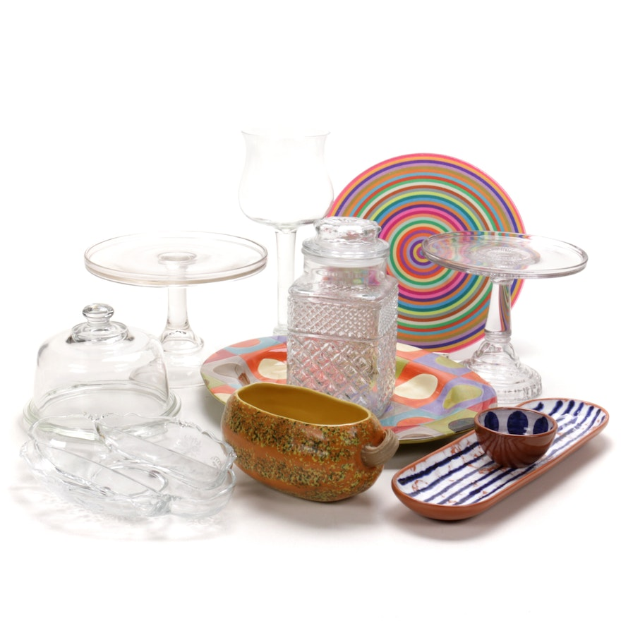 Glass and Ceramic Serveware and Table Accessories