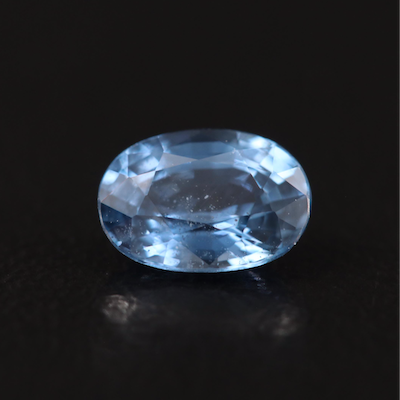 Loose 0.71 CT Oval Faceted Sapphire