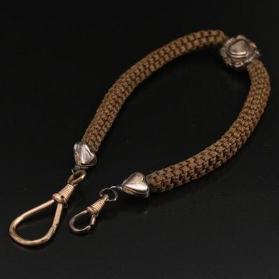 Victorian Hair Work Watch Chain