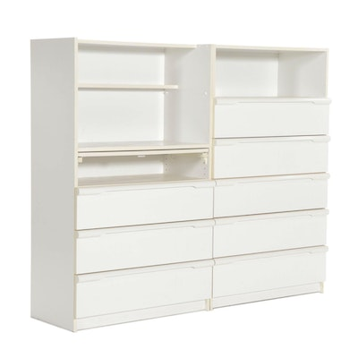 Two Bellini White-Painted Chests of Drawers