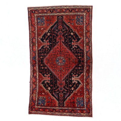 4'5 x 7'7 Hand-Knotted Northwest Persian Tuyserkan Area Rug