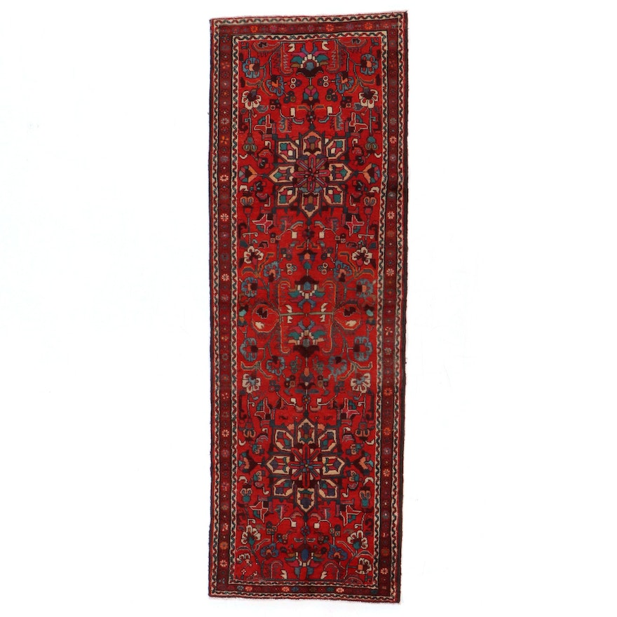 3'3 x 9'8 Hand-Knotted Persian Heriz Long Rug