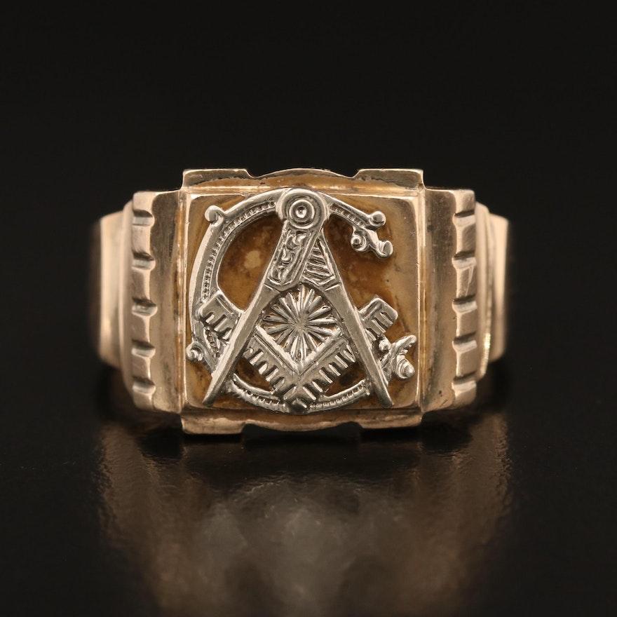 10K Masonic Ring