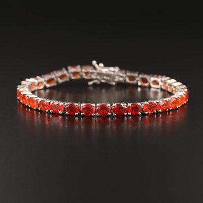 Sterling Gradient Opal Line Bracelet