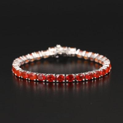 Sterling Opal Gradient Line Bracelet