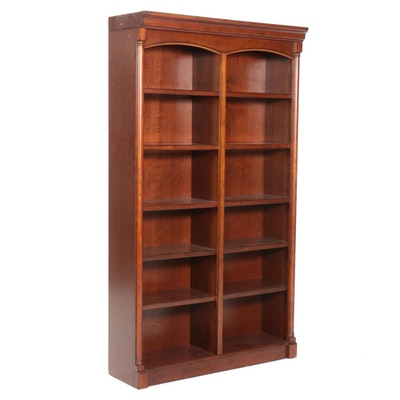 Contemporary Cherrywood Illuminated Bookcase